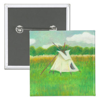 Tipi teepee central Minnesota landscape drawing Pin