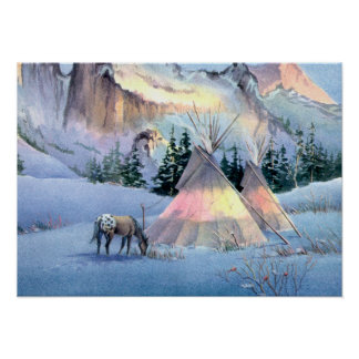 TIPI WINTER APPALOOSA by SHARON SHARPE Poster