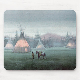 TIPIS IN THE MIST by SHARON SHARPE Mouse Pad