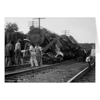 Tippsy Locomotive, 1920s Card