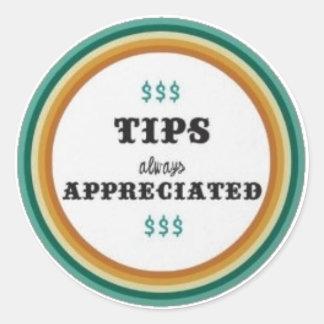 tips classic round sticker