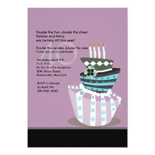 Tipsy Cake Birthday Party Invitation Zazzle