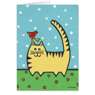 Tiptoe Kitty And Friend Note Card