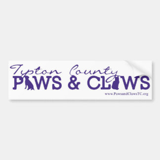 Tipton County Paws and Claws Bumper Sticker