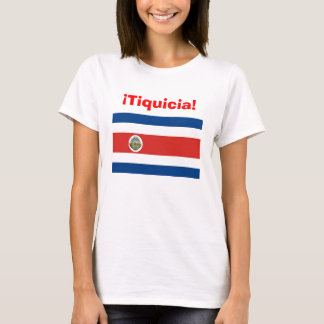 tiquicia, costa_rica_flag, tico, tica, costa rica T-Shirt