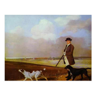 Tir de George Stubbs-John Nelthorpe avec des chien Carte Postale
