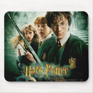 Tir de groupe de ratière de Harry Potter Ron Hermi Tapis De Souris