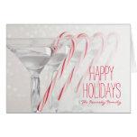 Tir de studio de boisson de martini avec la menthe carte de vœux