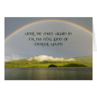 Tír na nÓg Irish Sympathy Card