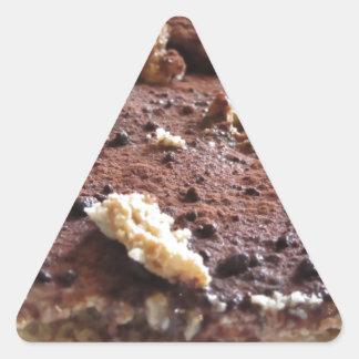 Tiramisu cake . Italian classical dessert Triangle Sticker