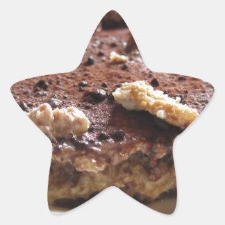 Tiramisu cake star sticker