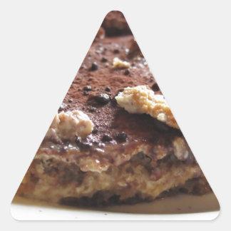 Tiramisu cake triangle sticker
