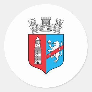 Tirana Coat Of Arms Classic Round Sticker