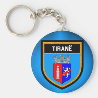 Tiranë Flag Basic Round Button Keychain