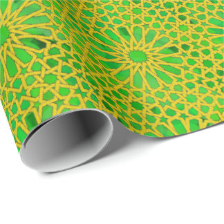 Tirazut yellow and green wrapping paper