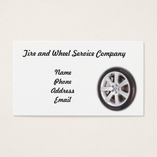 Tire and Wheel Service Company Business Card