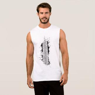 Tire Impression Sleeveless Shirt