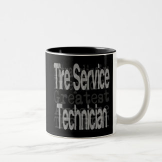 Tire Service Technician Extraordinaire Two-Tone Coffee Mug