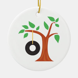 Tire Swing Ceramic Ornament