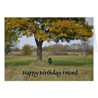 Tire swing Friend Card