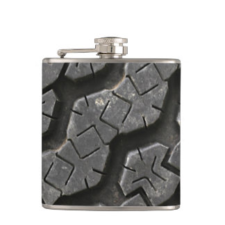 Tire Tread Hip Flask