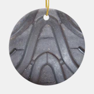 Tire Tread Round Ceramic Ornament