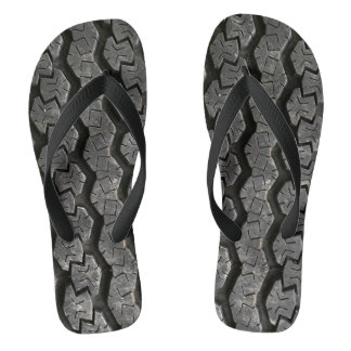 Tire Treads Funny Flip Flops