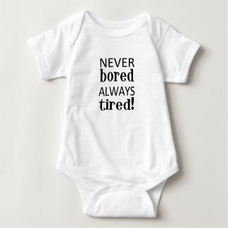 tired baby bodysuit