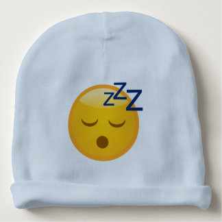 Tired Bedtime Emoji Baby Beanie