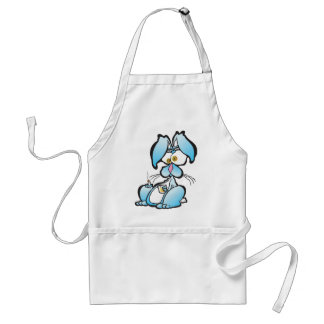 Tired Bunny Adult Apron