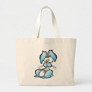 Tired Bunny Canvas Bag