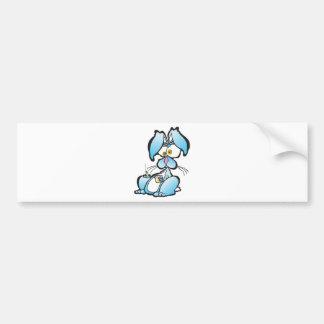 Tired Bunny Car Bumper Sticker