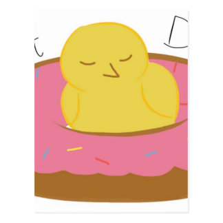 Tired Donut Bird Postcard