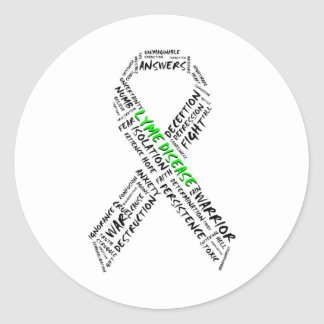 Tired of Lyme Support Stickers