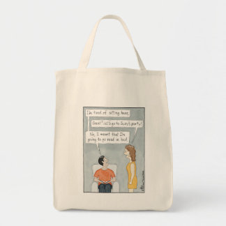 Tired of Sitting Here Tote Bag