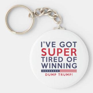 Tired Of Winning Basic Round Button Keychain