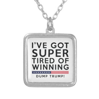Tired Of Winning Silver Plated Necklace