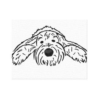 Tired Pooch Canvas Print