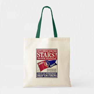 Tirons pour les étoiles sur notre fanion sac en toile budget