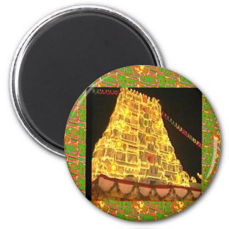 TIRUPATI Hindu Temple : South India 2 Inch Round Magnet