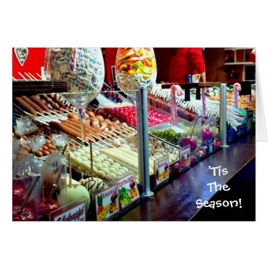 'Tis The Season Candy Blank Christmas Card Holiday
