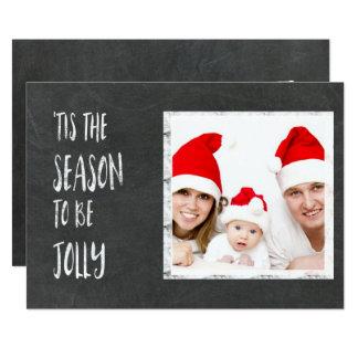 Tis the Season Chalkboard with Photo Card