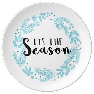 Tis the Season Christmas Paper Plates