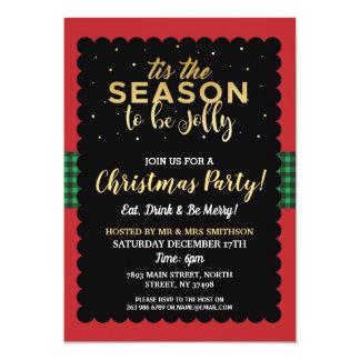 Tis The Season Christmas Party Jolly Check Invite
