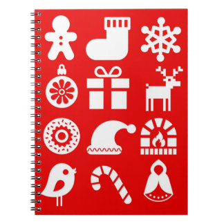 '''Tis the Season Christmas Spiral Notebook