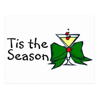 Tis The Season Drink Postcard