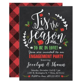 Tis' the Season Engagement Party Invitation