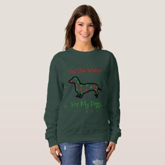 Tis The Season For My Doggy Womens Sweatshirt