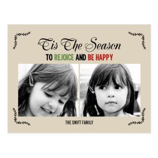 Tis The Season Holiday Photo Card Postcard
