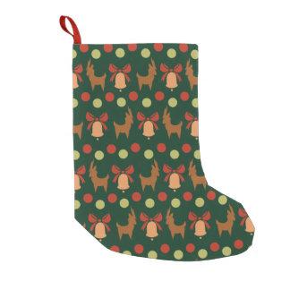 Tis the Season Pattern Small Christmas Stocking